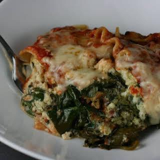 Slow Cooker Pesto Spinach Lasagna.