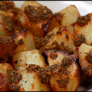 Potatoes on the Grill with Chimichurri Sauce