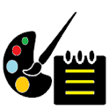 Paint and Notepad icon