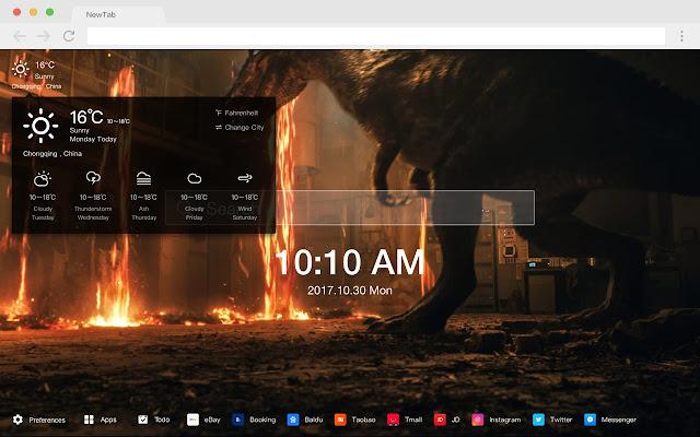 Jurassic Pop Dinosaur HD New Tabs Theme