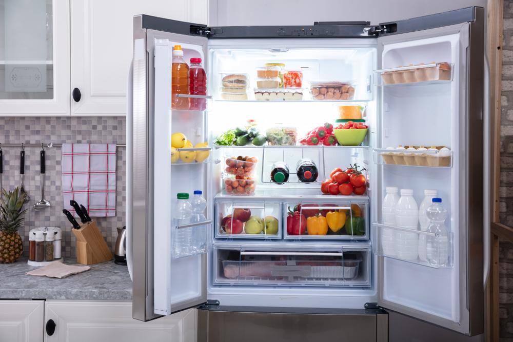 fully stocked refrigerator
