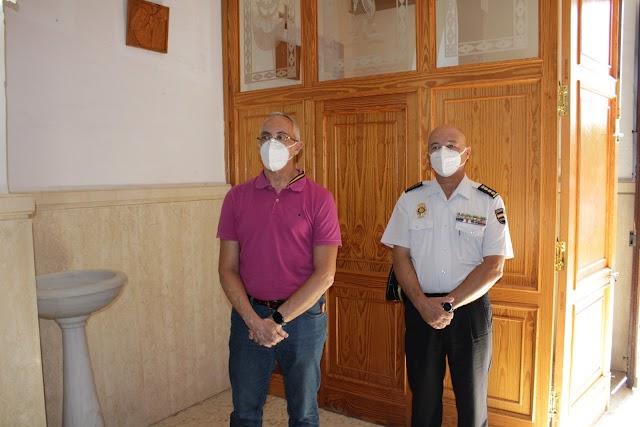El jefe de la Brigada de Información y el comisario Provincial de la Comisaría de Policía Nacional.