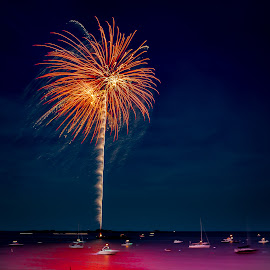 Marblehead Fireworks by David Long - Public Holidays July 4th