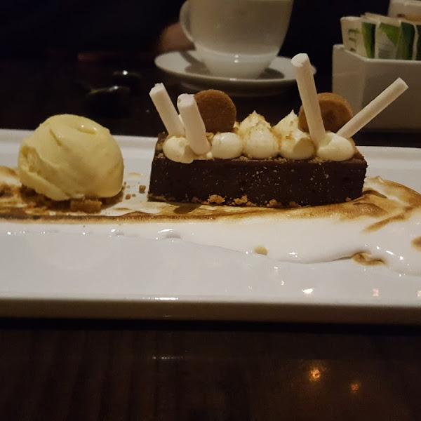 S'more torte with smoked vanilla ice cream!!
