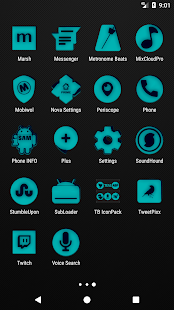 Teal and Black Icon Pack v2.2 - náhled