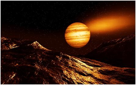 Largest planet of the Solar System:Jupiter