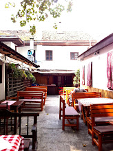 Photo: Inner courtyard at ? Restaurant.  Oldest Cafe in Belgrade.