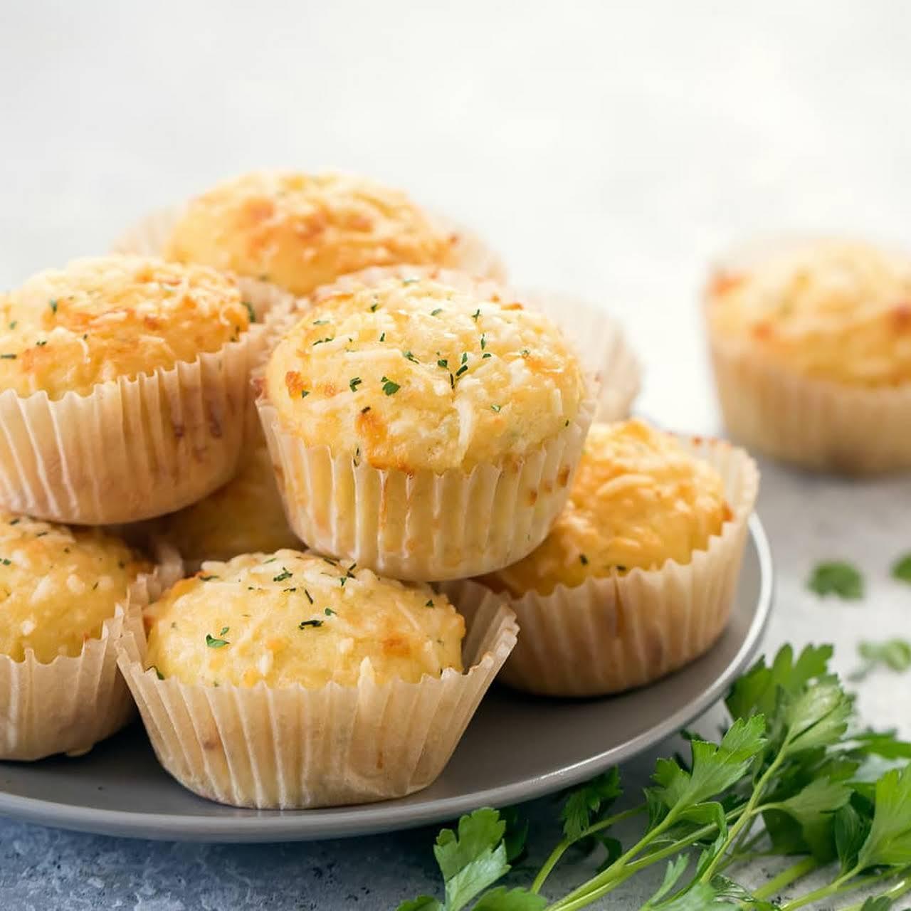 Keto Garlic Bread Muffins