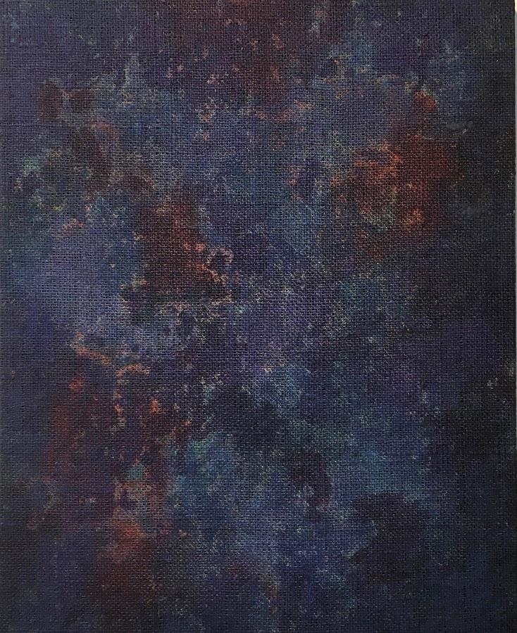 <p> Island Night Sky<br /> 2019<br /> acrylic on burlap<br /> 24x18in 61x46cm</p>