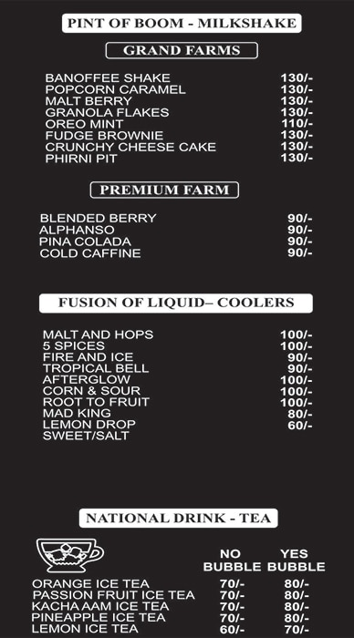 The Hungry Pit menu 2