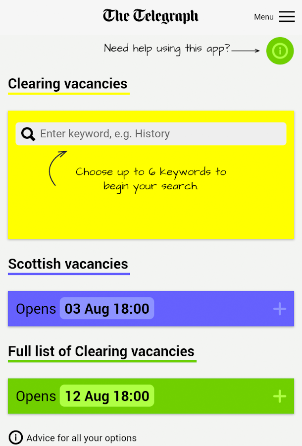 Telegraph Clearing- screenshot
