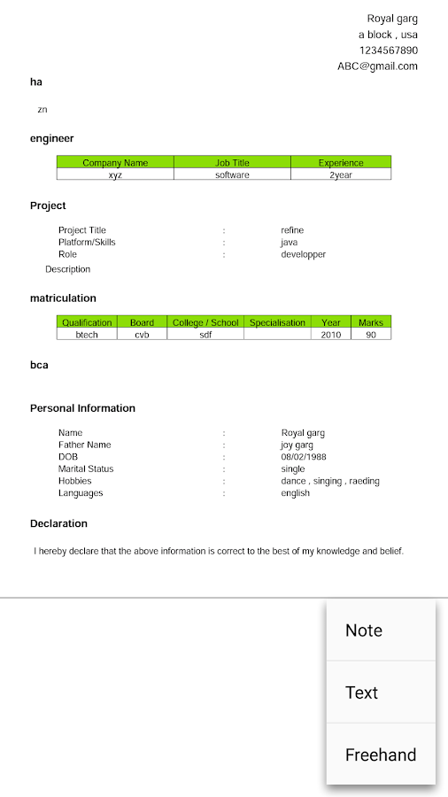 professional biodata maker pro screenshot