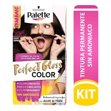 Tinte Palette Perfect   Gloss Color Negro Espresso N° 200 X 1und