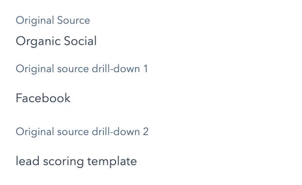 Organic social source & drill-downs
