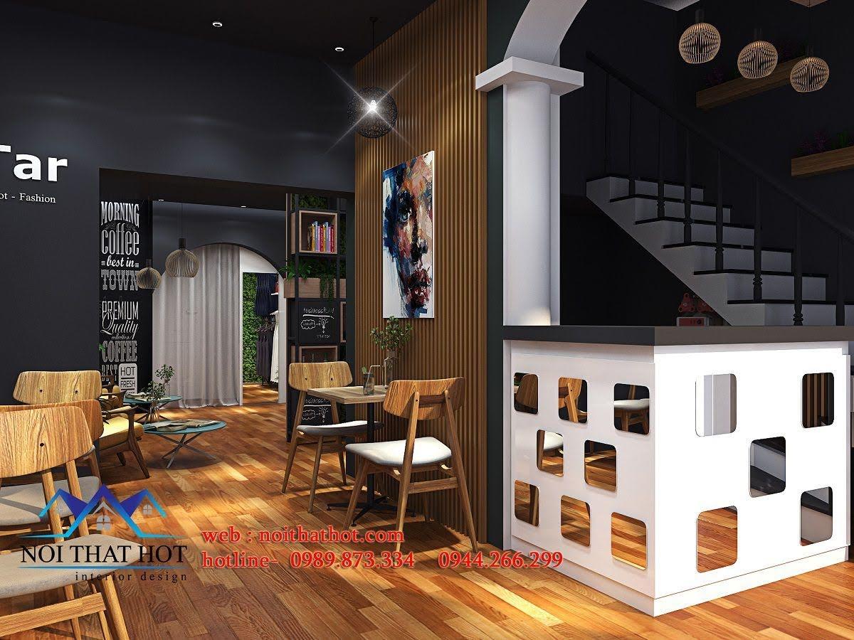 thiết kế quán cafe kết hợp shop thời trang 7