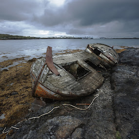 Fishing Boat 2 by Fokion Zissiadis - Transportation Boats ( seascape fishing boat reykjavik iceland,  )