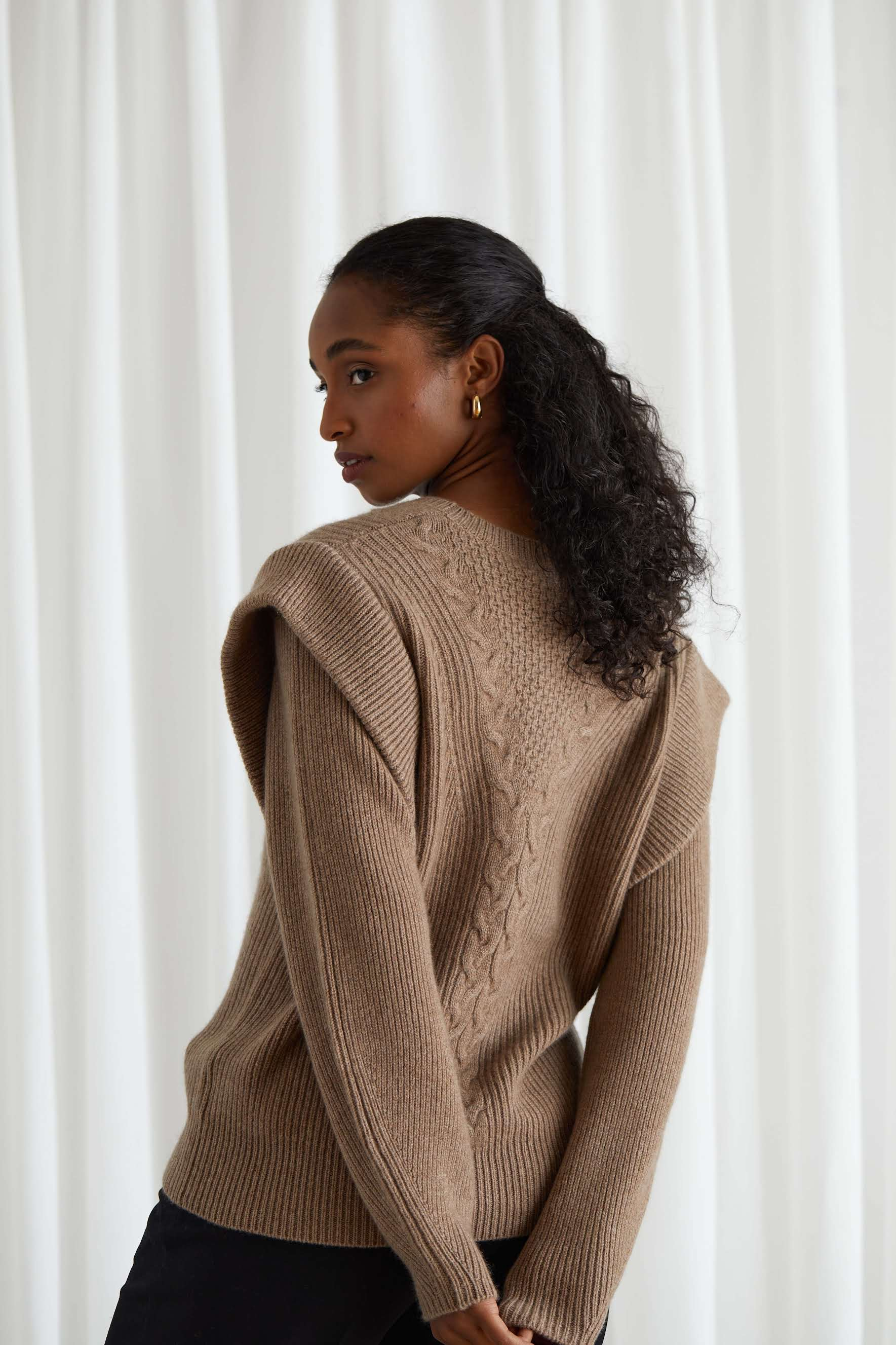 Chunky Cable Detail Sweater