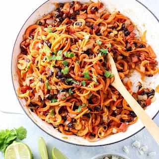 Sweet Potato Noodle Enchilada Stir-Fry Recipe