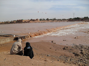 Photo: The Draa river in M'hamid, feb 2010