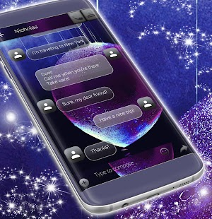 Text Message Water Bubble Themes - náhled