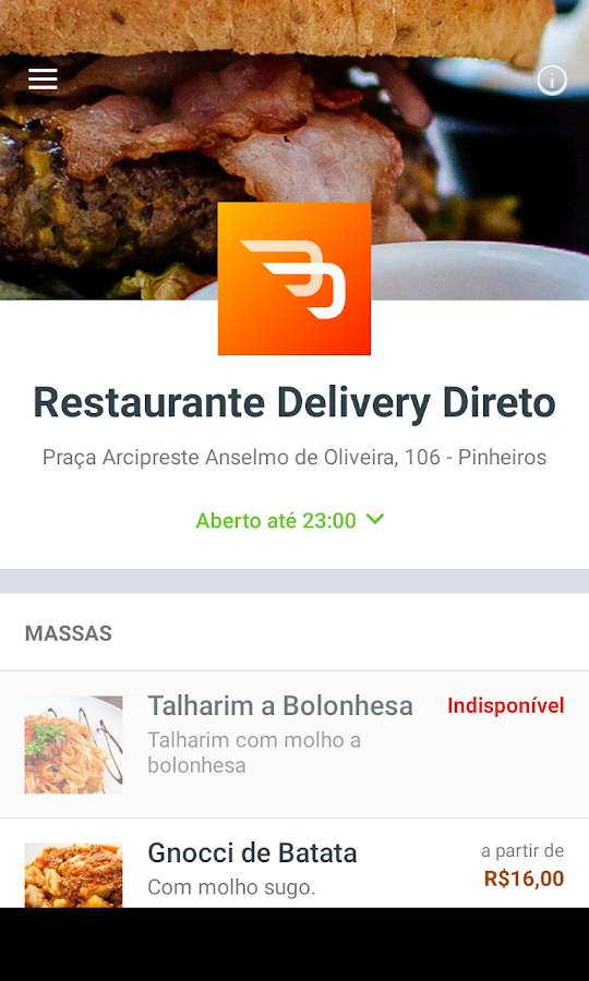 Restaurante Delivery Direto- screenshot