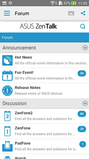 ASUS ZenTalk Community screenshot