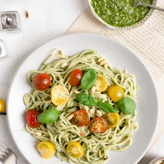 Pesto Pasta with Cherry Tomatoes.