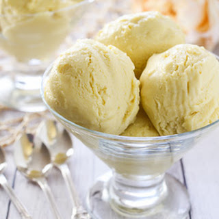 No Churn Vegan Mango Ice Cream