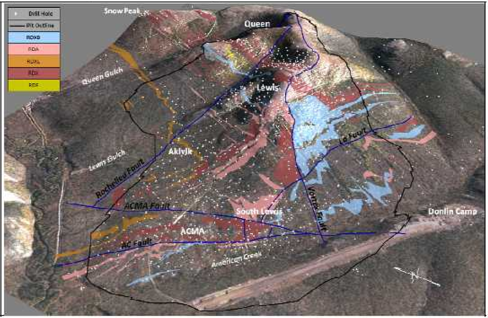Interpreted Surface Geology of Resource Area