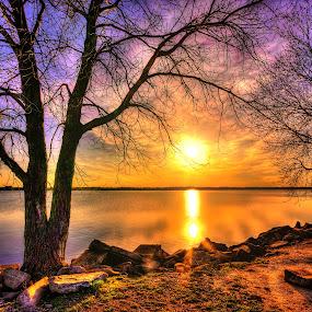 by DE Grabenstein - Landscapes Sunsets & Sunrises ( sunset, lake sunset, lake )