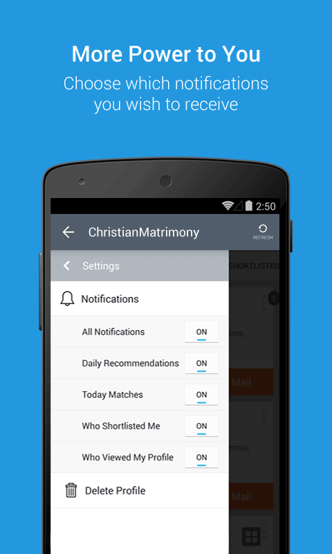 ChristianMatrimony- screenshot