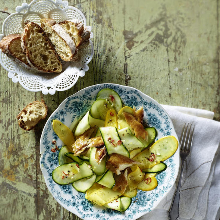 Quick Zucchini and Smoked Mackerel Salad