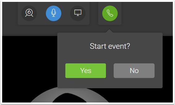 Start Your Live Webinar