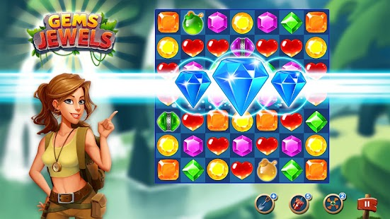 Gems & Jewel Crush - Match 3 Jewels Puzzle Game Screenshot