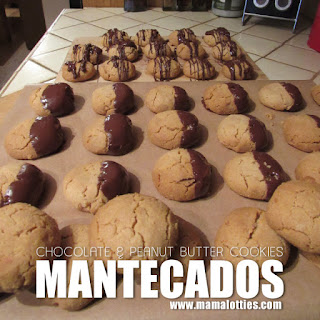 Chocolate-Dipped Mantecados (Peanut Butter Cookies)
