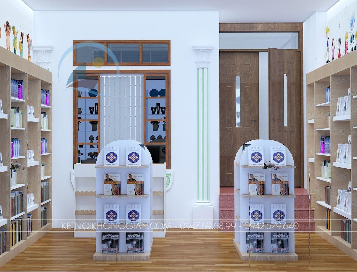 thiết kế nội thất nhà sách Dâu Tây 3