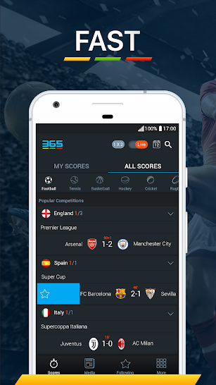 365Scores - Live Scores & Sports News screenshot for Android