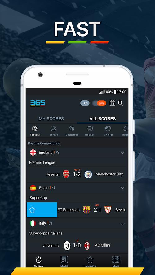 Screenshot 1 365Scores - Live Scores & Sports News 6.6.4 APK MOD