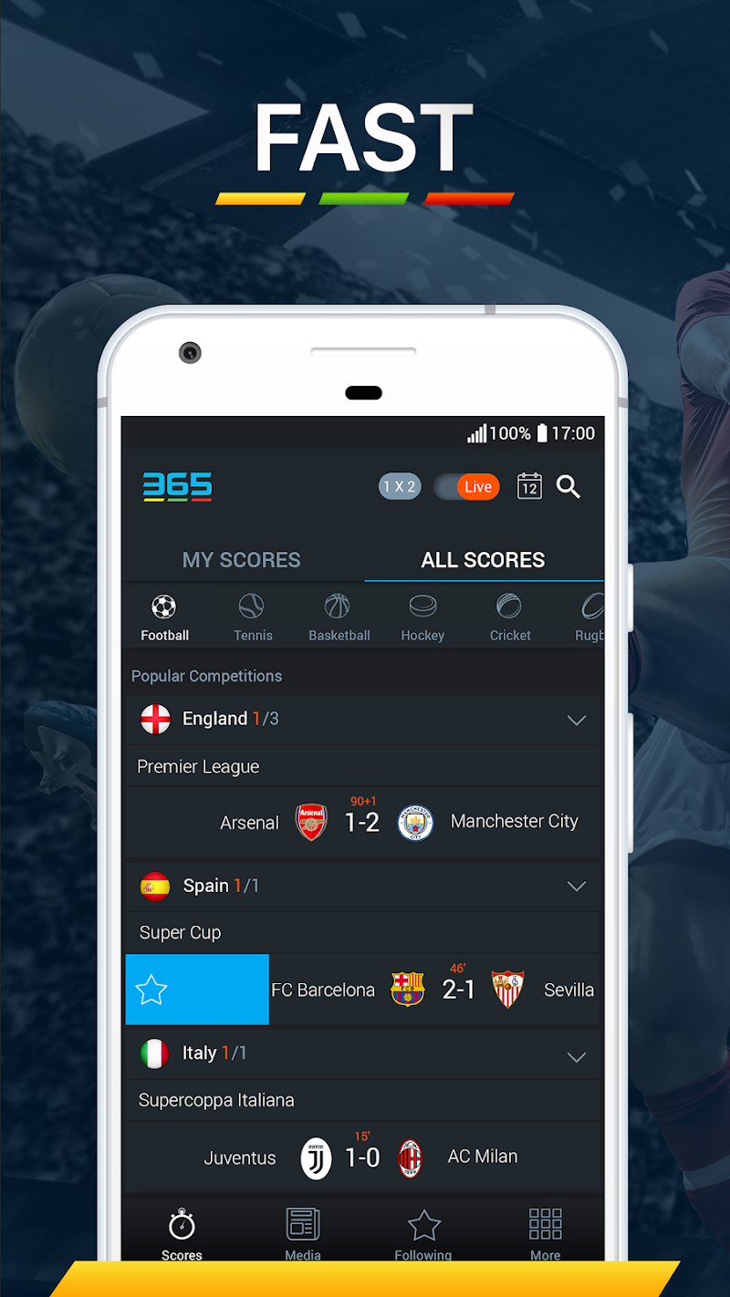 365Scores - Live Scores & Sports News APK Cracked Free