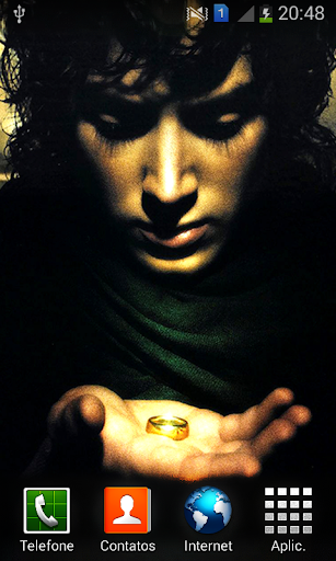 Frodo and the Ring Wallpaper