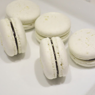 Coconut Dark Chocolate French Macarons