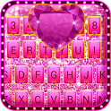 Pink Bow Glitter Keyboard Theme icon