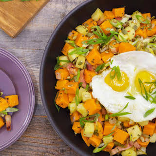 Anne Burrell's Sweet Potato and Apple Hash.