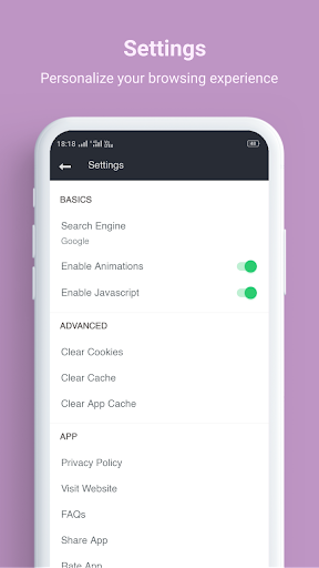 Turbo Browser - Super Fast and Secure Browser 2.4 screenshots 6