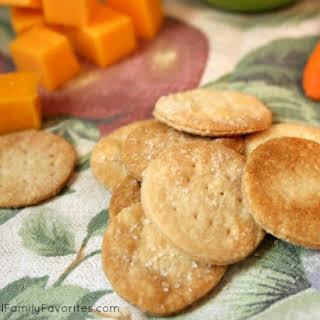 Homemade Saltine Crackers.