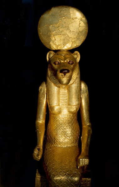 Image of Seated figure of the goddess Sekhmet from the tomb of Tutankhamun, © Werner Forman Archive / Bridgeman Images