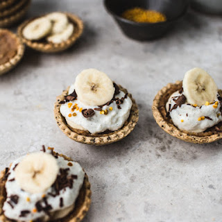Banoffee Pie Bites {GF & No refined sugar, Vegan option}.