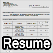 Easy Resume Maker for fresher & Experienced Format