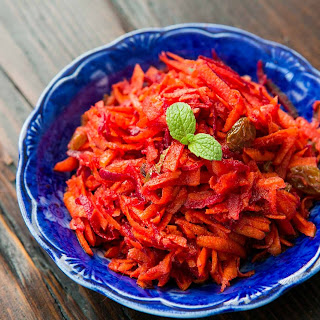 Moroccan Grated Carrot and Beet Salad.