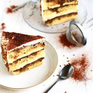 Tiramisu Cake with White Chocolate Mousse.
